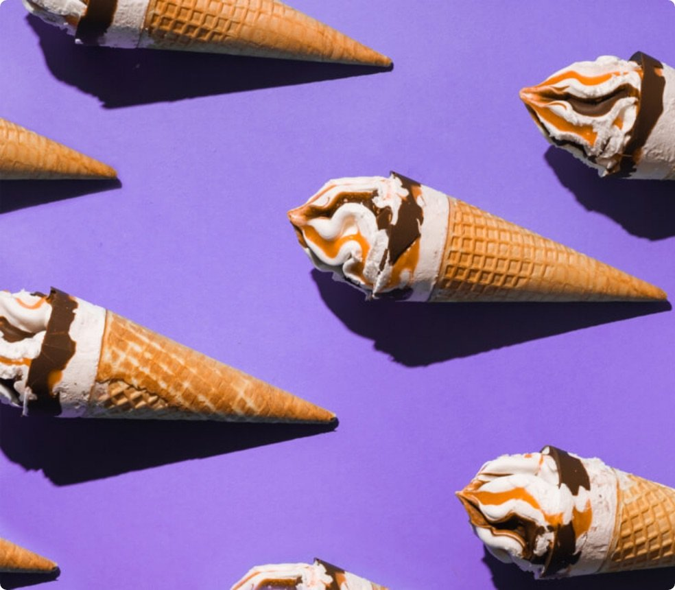 ice cream cones repeating